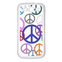 Peace Sign Collage Png Samsung Galaxy S3 Back Case (White)