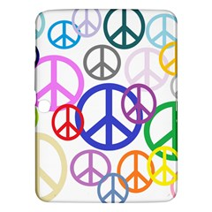 Peace Sign Collage Png Samsung Galaxy Tab 3 (10.1 ) P5200 Hardshell Case