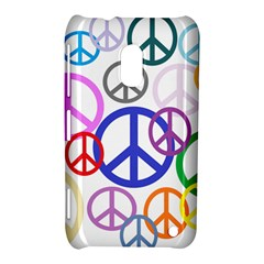 Peace Sign Collage Png Nokia Lumia 620 Hardshell Case