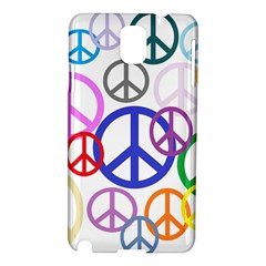 Peace Sign Collage Png Samsung Galaxy Note 3 N9005 Hardshell Case