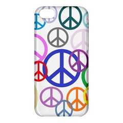 Peace Sign Collage Png Apple Iphone 5c Hardshell Case