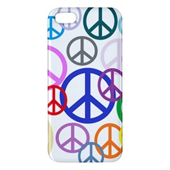 Peace Sign Collage Png iPhone 5S Premium Hardshell Case