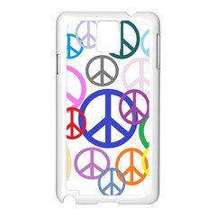 Peace Sign Collage Png Samsung Galaxy Note 3 Case (White)