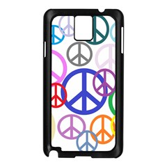 Peace Sign Collage Png Samsung Galaxy Note 3 Case (Black)
