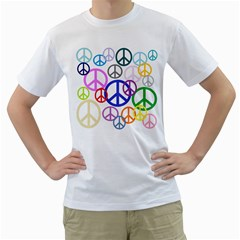 Peace Sign Collage Png Men s T Shirt (white)