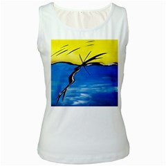 Spring Women s Tank Top (White)