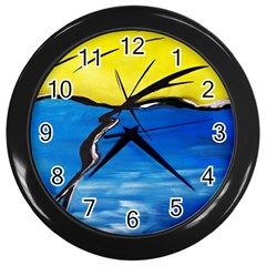 Spring Wall Clock (Black)