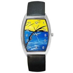 Spring Tonneau Leather Watch