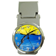 Spring Money Clip with Watch
