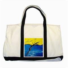 Spring Two Toned Tote Bag