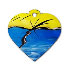 Spring Dog Tag Heart (One Sided)