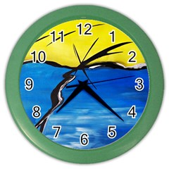 Spring Wall Clock (color)
