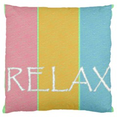 Pastels Large Cushion Case (Two Sided)