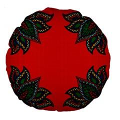 Lotus 2 18  Premium Round Cushion