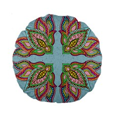 Flowers 15  Premium Round Cushion