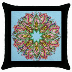 More Flowers Black Throw Pillow Case