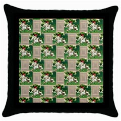 Victorian St Patrick s Day Black Throw Pillow Case