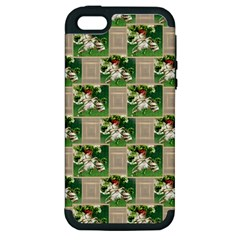 Victorian St Patrick s Day Apple iPhone 5 Hardshell Case (PC+Silicone)