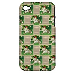 Victorian St Patrick s Day Apple iPhone 4/4S Hardshell Case (PC+Silicone)