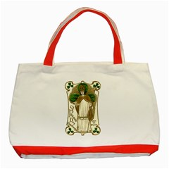 Victorian St Patrick s Day Classic Tote Bag (Red)