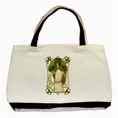Victorian St Patrick s Day Twin-sided Black Tote Bag