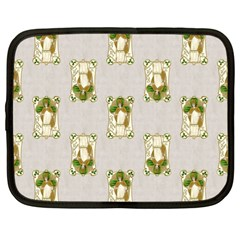 Victorian St Patrick s Day Netbook Sleeve (Large)