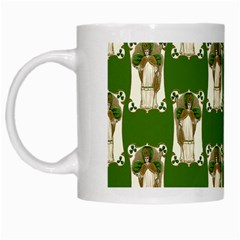 Victorian St Patrick s Day White Coffee Mug