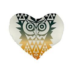 TRIANGOWL 16  Premium Heart Shape Cushion