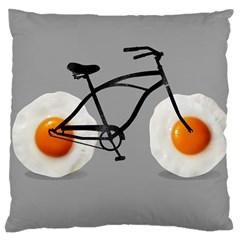 egg bike Large Cushion Case (Single Sided)