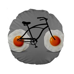 Egg Bike 15  Premium Round Cushion