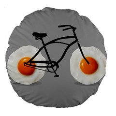 egg bike 18  Premium Round Cushion