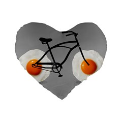 egg bike 16  Premium Heart Shape Cushion