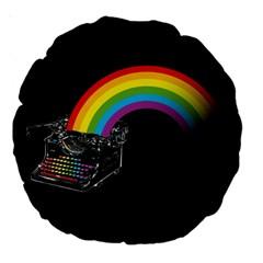 Color Writer 18  Premium Round Cushion