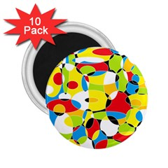 Interlocking Circles 2.25  Button Magnet (10 pack)