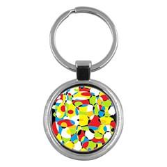 Interlocking Circles Key Chain (Round)