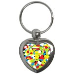 Interlocking Circles Key Chain (Heart) Front