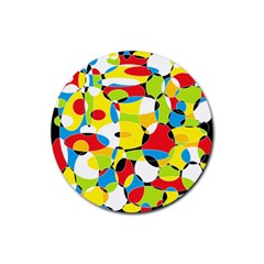 Interlocking Circles Drink Coasters 4 Pack (Round)