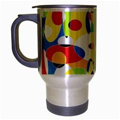 Interlocking Circles Travel Mug (silver Gray)