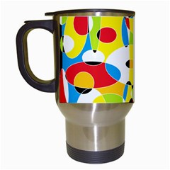 Interlocking Circles Travel Mug (White)