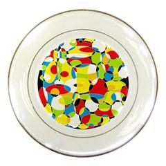 Interlocking Circles Porcelain Display Plate