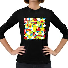 Interlocking Circles Women s Long Sleeve T Shirt (dark Colored)