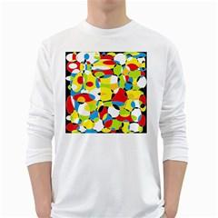 Interlocking Circles Men s Long Sleeve T Shirt (white)