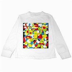 Interlocking Circles Kids Long Sleeve T-Shirt