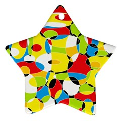 Interlocking Circles Star Ornament (two Sides)