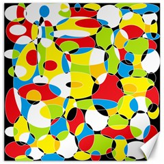 Interlocking Circles Canvas 12  x 12  (Unframed)