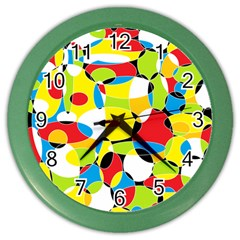 Interlocking Circles Wall Clock (Color)