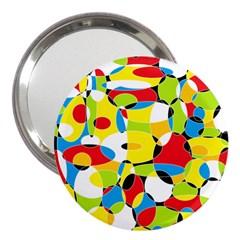 Interlocking Circles 3  Handbag Mirror