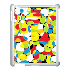 Interlocking Circles Apple iPad 3/4 Case (White)