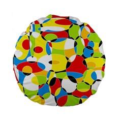 Interlocking Circles 15  Premium Round Cushion