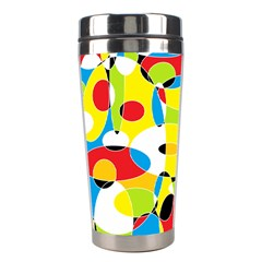Interlocking Circles Stainless Steel Travel Tumbler